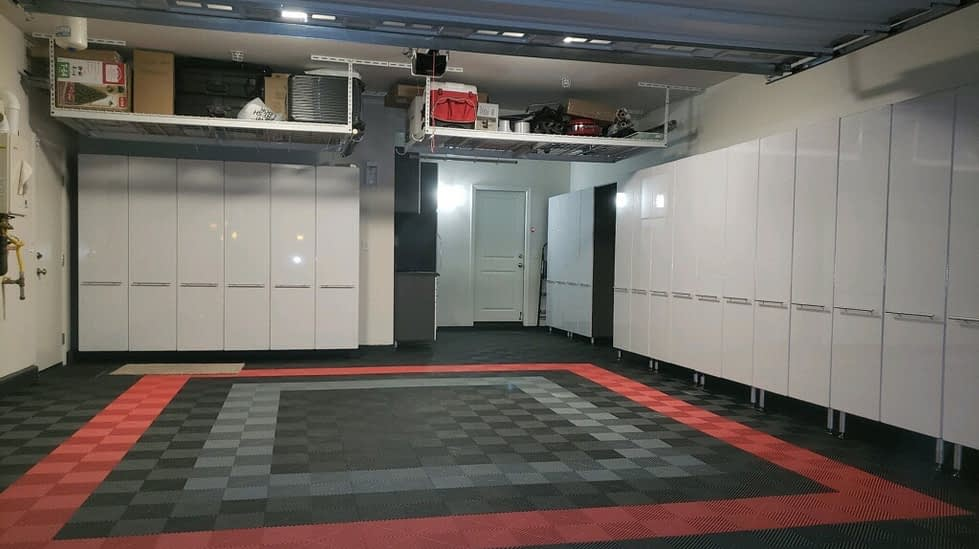 garage systems with overhead storage