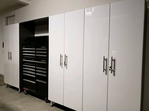 Modular Garage Cabinets with Tool Chest